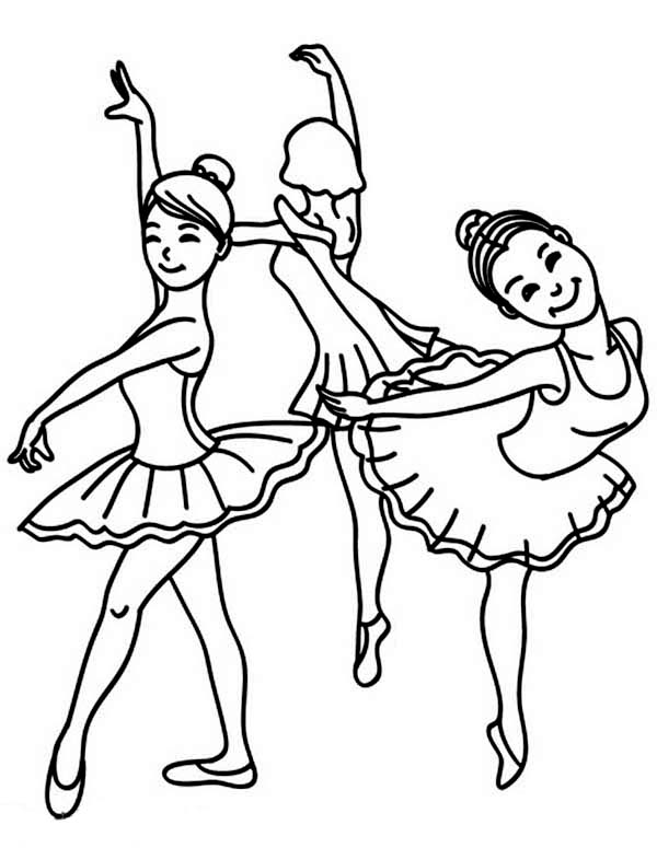 Ballet, : Learning Ballet with Friends Coloring Pages