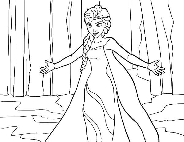 Elsa, : Let it Go Queen Elsa Coloring Pages