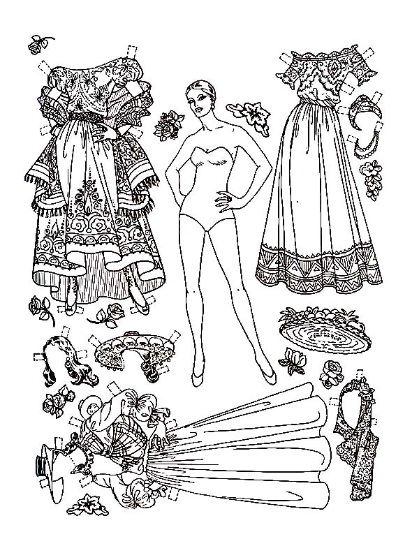 In the 1940s... Paper Doll Coloring Page • Paper Thin Personas   772x600