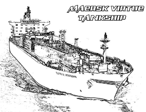 Coloring pages aircraft carrier ~ Maersk Virtue Tankship Aircraft Carrier Ship Coloring ...