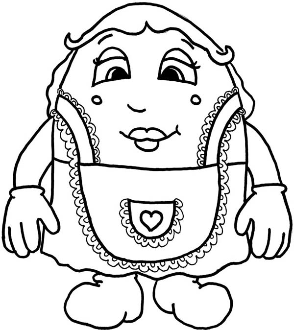 Humpty Dumpty, : Mrs Humpty Dumpty Coloring Pages