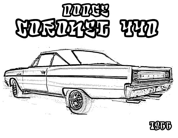 dodge muscle car coloring pages