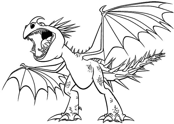 How To Train Your Dragon, : Nadder Angry Screaming in How to Train Your Dragon Coloring Pages