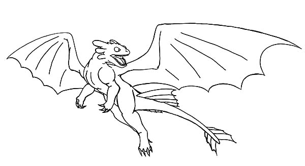 How To Train Your Dragon, : Night Fury Fight in How to Train Your Dragon Coloring Pages
