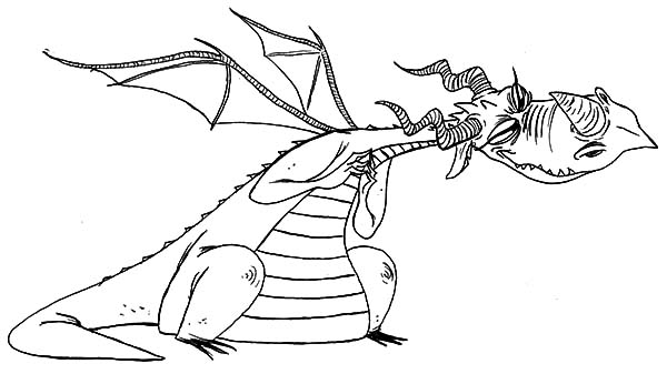 How To Train Your Dragon, : Nightmare Choking in How to Train Your Dragon Coloring Pages