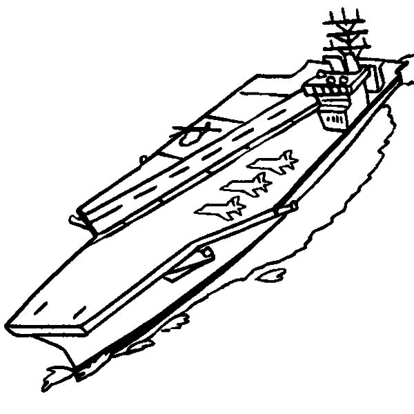 free coloring pages aircraft carrier - photo#16