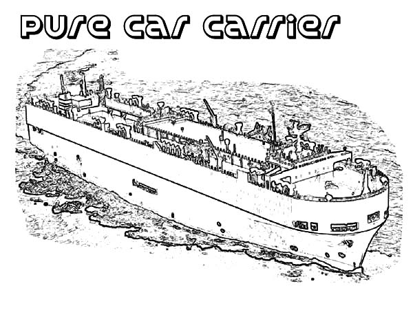 Pure Car Carrier Aircraft Carrier Ship Coloring Pages