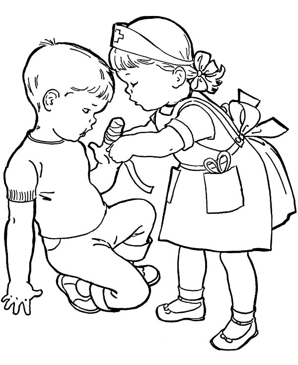 helping others coloring pages free - photo#29