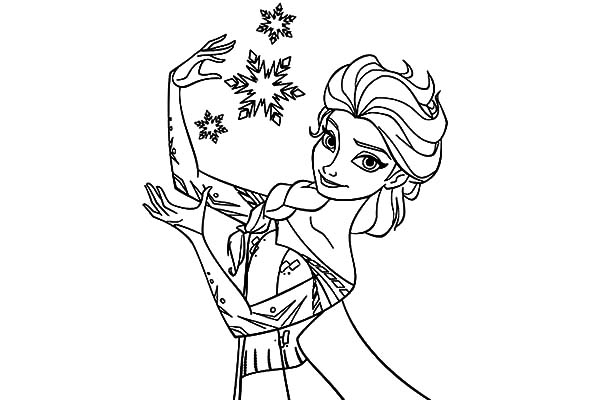 Queen Elsa Coloring Pages For Kids Coloring Sky