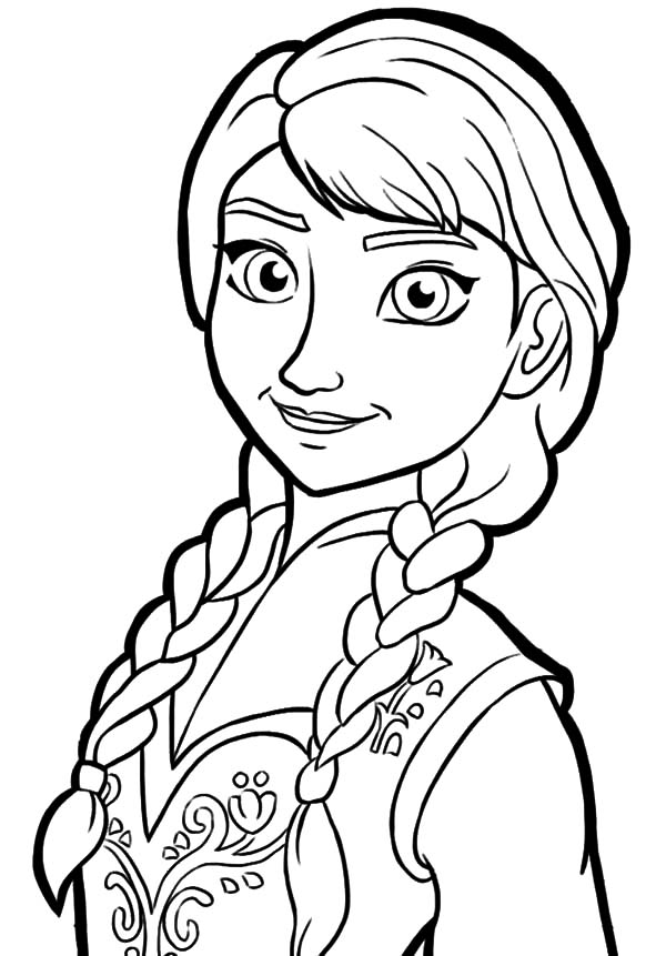 elsa head coloring pages | Queen Elsa Only Sister Princess Anna Coloring Pages ...