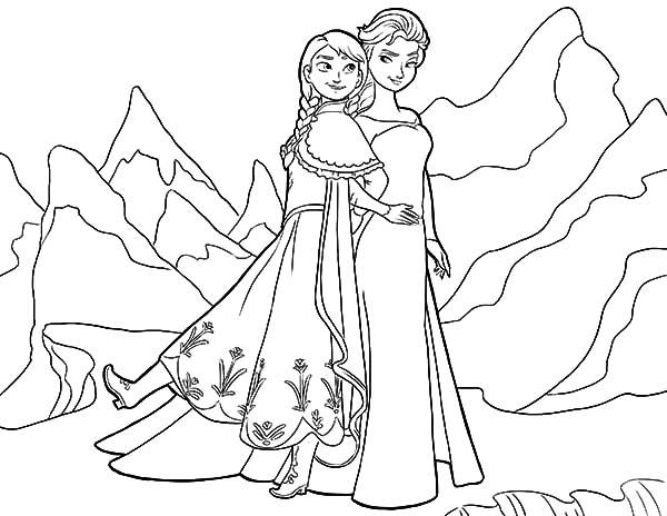 Queen Elsa Dont Want To Hurt Her People Coloring Pages