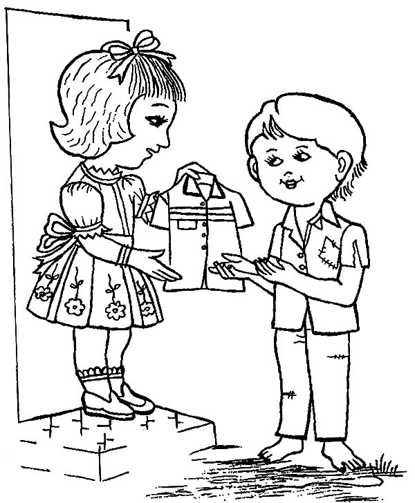 helping others coloring pages free - photo#26