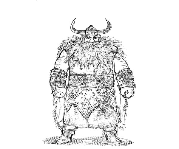 How To Train Your Dragon, : Stoick the Vast Hiccup Father in How to Train Your Dragon Coloring Pages