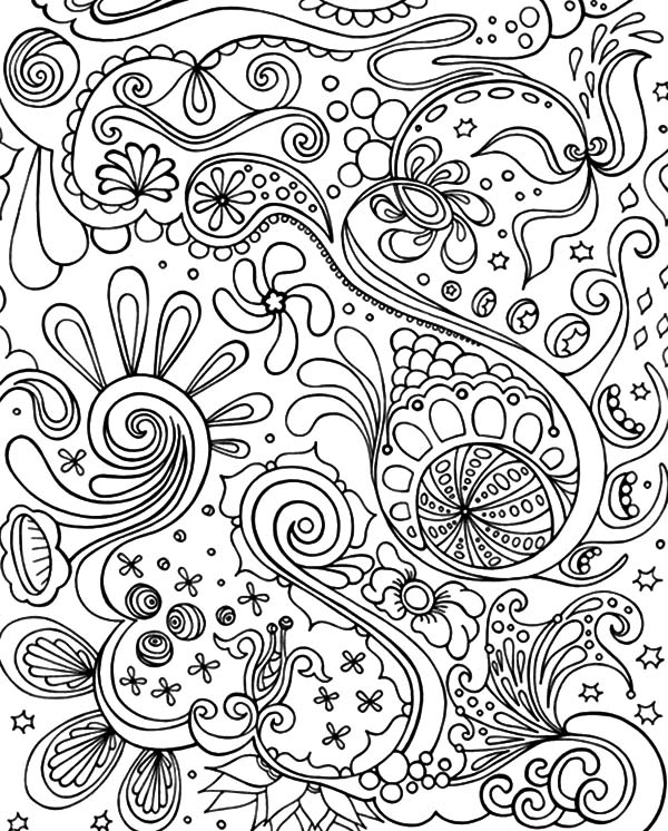 Tribal Abstract Coloring Pages : Coloring Sky