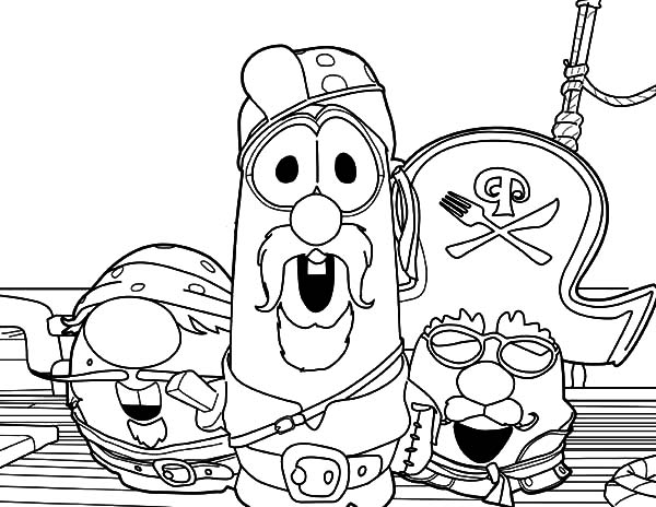 Veggie Tales Larry Boy And Friends The Pirate Coloring Pages