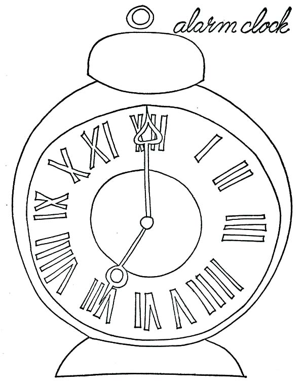 Pocket Alarm Clock Coloring Pages